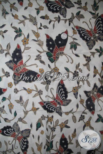 Kain Batik Klasik Motif Kupu-Kupu Keren Untuk Busana Resmi, Batik Solo Murah Dengan Kwalitas Bagus Dan Halus