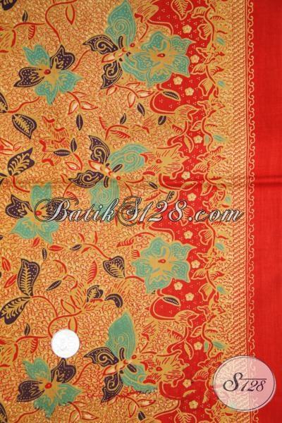 Grosir Kain Batik Printing Buatan Pengerajin Solo, Kain Batik Bagus Bahan Busana Murah Meriah [K1443P]