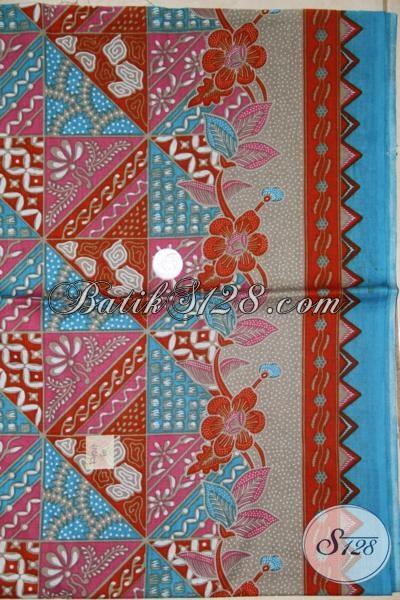 Jual Kain Batik Trend Mode Masa Kini, Kain Batik Motif Campuran Cocok Untuk Busana Santai Dan Resmi