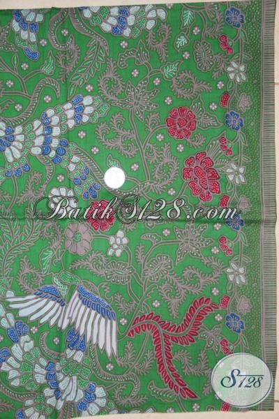 Distro Batik Online Jual Kain Batik Solo Motif Unik Warna Hijau Trendy Dan Bagus [K1462P]