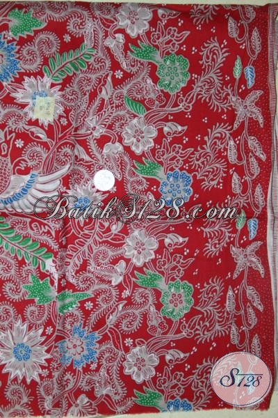 Kain Batik Printing Murah Bukan Murahan, Batik Warna Bahan Busana Motif Bunga-Bunga Keren Dan Fashionable