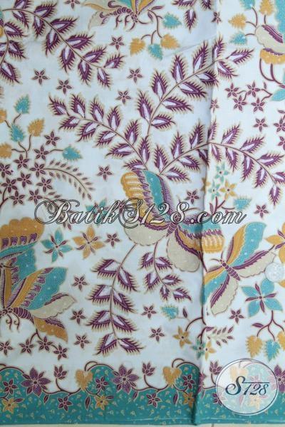 sedia Kain Batik Bagus Halus Dengan Harga Terjangkau, Kain Batik Proses Printing Untuk Bahan Busana Pria Dan Wanita Dengan Motif Trendy