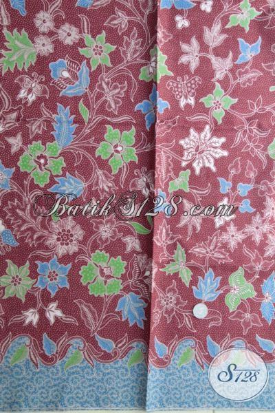 Trend Kain Batik MAsa Kini Bermotif Bunga Dengan Warna Kalem Yang Lebut Dan Keren, Batik Bahan Busana Blus Wanita Karir Aktif Kreatif