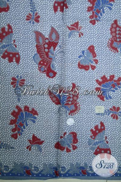 Kain Batik Murmer Kwalitas Bagus Ramah Dikantong, Batik Motif Kupu-Kupu Bahan Baju Baru Untuk Perempuan Muda Dan Dewasa [K1494P]