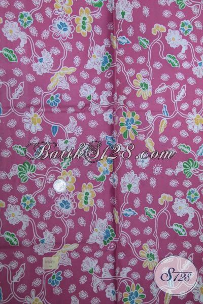 Pusat Penjualan Kain Batik Online Murah Berkwalitas, Batik Kain Asli Solo Warna Pink Untuk Busana Cantik Menyambut Lebaran [K1515P]