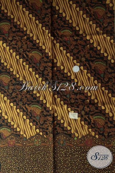Jual Kain Batik Klasik Motif Parang Proses Kombinasi Tulis, Batik Kain Produk Solo Bahan Busana Resmi Pria Dan Wanita [K1517BT]