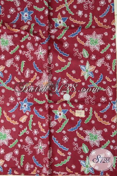 Kain Batik Proses Print Kwalitas Bagus Harga Murah, Batik Bahan Busana Wanita Keren Dengan Motif Modern