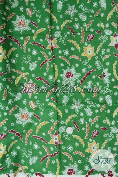 Jual Kain Batik Print Warna Hijau Motif Trendy Untuk Bahan Busana Wanita Pria Lebih Modis Dan Modern