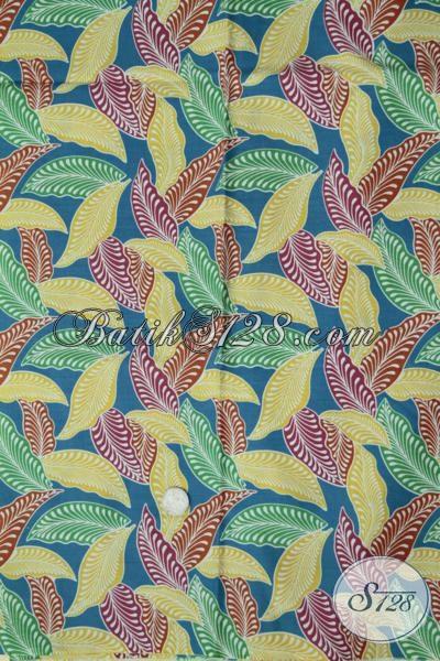 Tempat Belanja Batik Online Terpercaya Sedia Kain Batik Terbaru Motif Dedaunan Dengan Kombinasi Warna Unik Lebih Trendy Dan Fashionable Untuk Busana