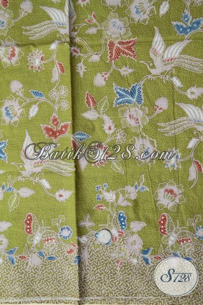Jual Kain Batik Solo Murah Meriah Dengan Kualitas Bagus Terjamin, Batik Bahan Pakaian Wanita Motif Modern Warna Hijau Keren