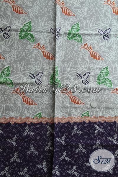 Jual Kain Batik Trendy Bahan Busana Wanita Tampil Lebih Keren, Batik Kain Print Kwalitas  Bagus Harga Murah [K1571P]