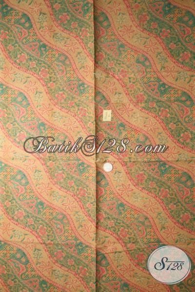 Jual Aneka Batik Kain Bahan Pakaian Pria Maupun Wanita Proses Print Lasem, Kain Batik Warna Lembut Motif Klasik Modern Pas Buat Baju Kerja