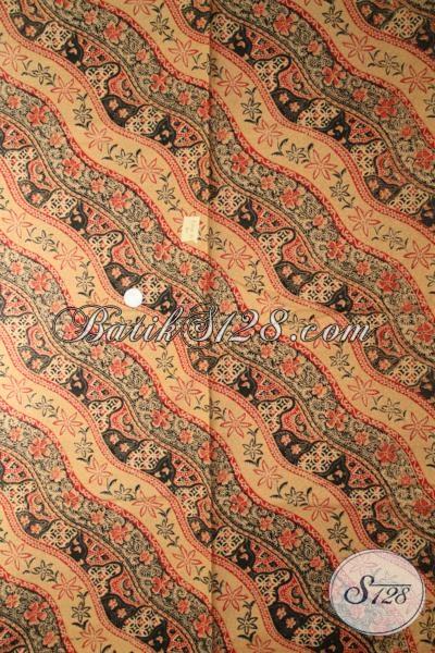 Kain Batik Klasik Sentuhan Modern Yang Pas Untuk Baju Kerja Maupun Pesta, Batik Solo Proses Print Lasem Berkwalitas Bagus Harga Murah