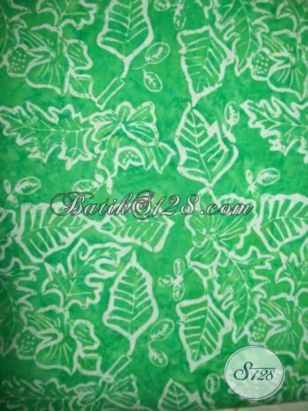 Jual Online Bahan Pakaian Batik Wanita Terkini, Batik Hijau Proses Cap Smoke Kwalitas Bagus Harga Murah [K1633CS]