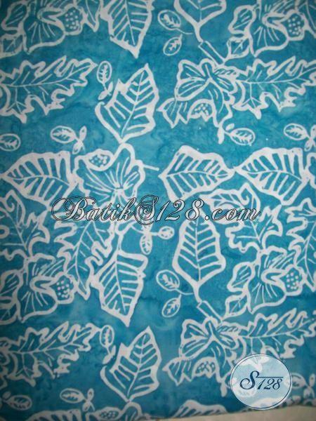 Jual Kain Batik Biru Proses Cap Smoke, Batik Bahan Kemeja Pria Maupun Blus Trendy Wanita Untuk Seragam Kantor