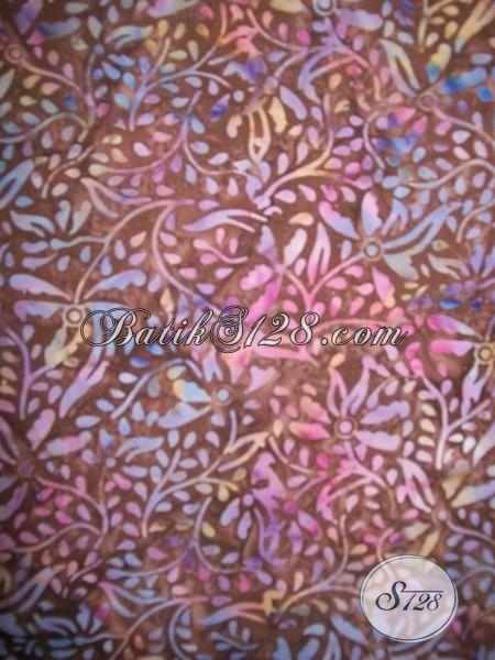 Grosir Eceran Aneka Kain Batik Solo Proses Cap Smoke, Kain Batik Motif Modern Sangat Cocok Untuk Aneka Busana Wanita Maupun Pria