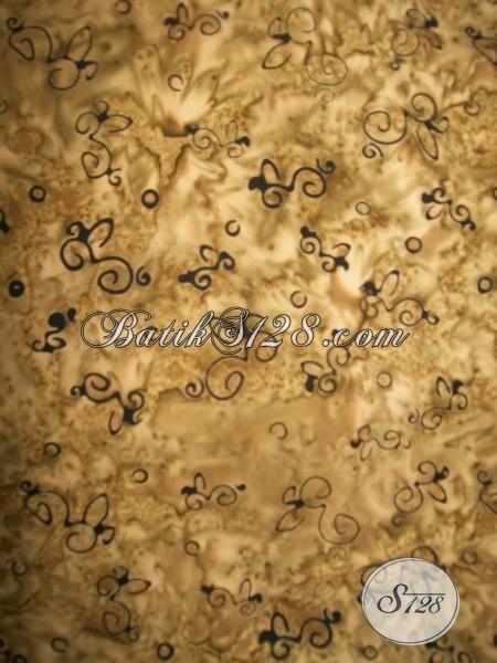 Batik Cap Smoke Motif Uni Dengan Warna Coklat, Batik Modern Bahan Baju Santai Dan Formal Pria Maupun Wanita