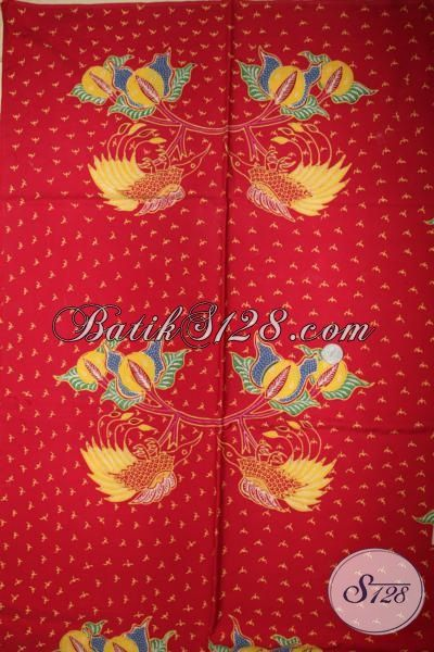 Online Shop Batik Tulis Terlengkap Di Solo, Sedia Batik Kain Bahan Pakaian Kwalitas Halus Warna Merah Motif Trendy, Pas Buat Pakaian Resmi Nan Mewah Berkelas