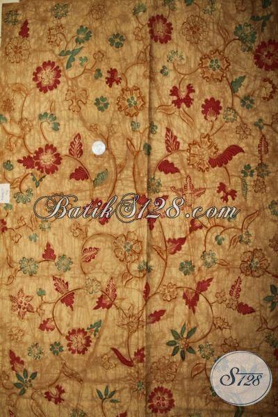 Kain Batik Klasik Proses Tulis Soga Asli Buatan Solo, Batik Jawa Bahan Busana Formal Untuk Tampil Elegan Dan Mewah