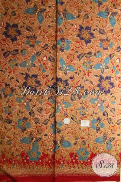 Kain Batik Klasik Modern Khas Solo Jawa Tengah, Batik Kain Bahan Busana Trendy Untuk Seragam Kerja Harga Murmer