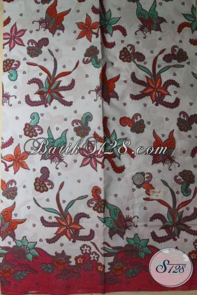 Tempat Belanja Online Kain Batik Motif Terbaru Dengan Aman Terpercaya, Sedia Koleksi Terbaru Batik Print Asli Solo Untuk Bermacam Busana Masa Kini  Harga Murmer [K1677P]