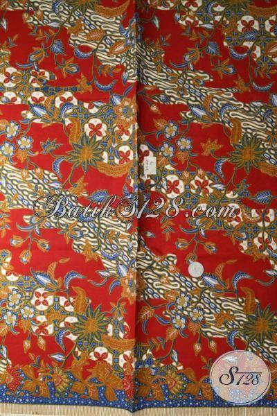 Kain Batik Jawa Motif Klasik Khas Solo Jawa Tengah, Batik Etnik Bahan Busana Tradisional Dan Formal [K1686P]
