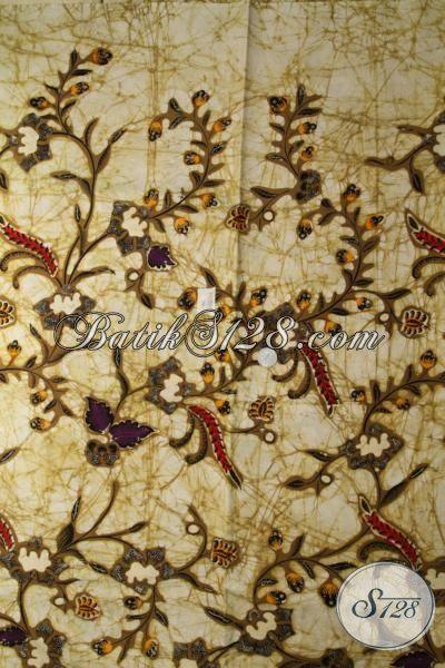 Kain Batik Solo Motif Klasik Sentuhan Modern, Batik Kombinasi Tulis Bahan Pakaian Formal Wanita Dan Pria