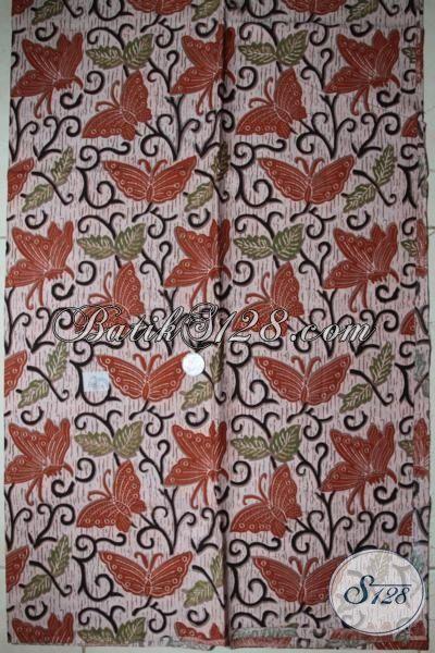 Bahan Kain Batik Motif Kupu Cantik Harga Murah, Katun Halus [K1707P-200x105cm]