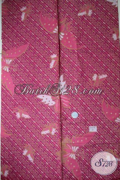 Batik Halus Solo, Bahan Kain Motif Kupu-Kupu Cantik, Cocok Untuk Hadiah Atau Dipakai Sendiri [K1709P-200x105cm]