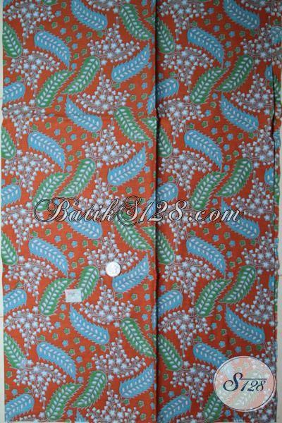 Kain Batik Solo Motif Unik Warna Cerah Cocok Untuk Kemeja Pria Maupun Blus wanita, Batik Printing Berbahan Halus Dengan Harga Murmer