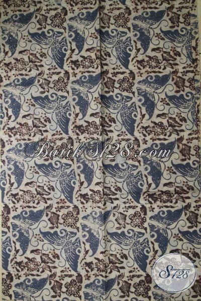 Kain Batik Bagus Motif Kupu, Bahan Katun Halus, Batik Solo [K1718CA-200x110cm]