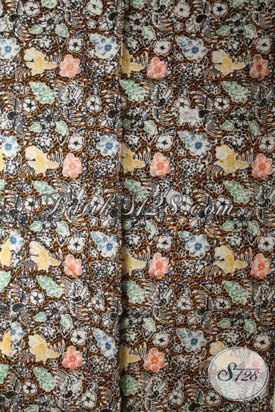 Sedia Kain Batik Cap Halus Asli Solo Untuk Bahan Kemeja Pria Dan Blus Wanita [K1735CT-200x110cm]