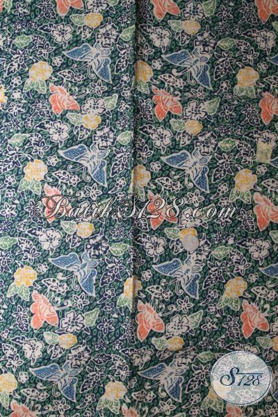 Batik Trendy Proses Cap Tulis Warna Hijau  Keren Berpadu Motif Modern Nan Unik Dan Modis, Cocok Untuk Baju Pesta Yang Gaul Dan Berkesan Mewah