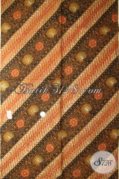Kain Batik Klasik Motif Unik Dan Etnik, Batik Bahan Busana Mewah Pria Dan Wanita Untuk Tampil Elegan Berkelas [K1742CT-240x110cm]