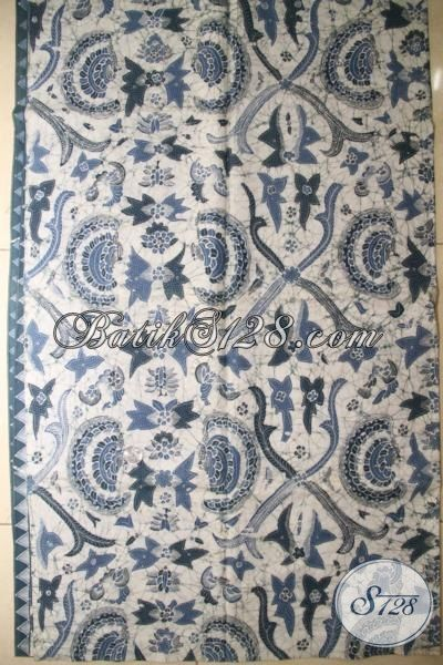 Kain Batik Premium Motif Klasik Bahan Pakaian Elegan, Batik Untuk Baju Kerja, Bahan Busana Batik Kondangan Proses Tulis Warna Alam