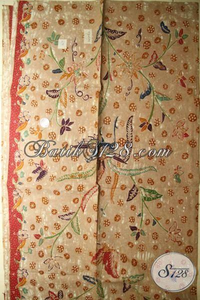 Jual Batik Solo Halus Bahan Blus, Batik Klasik Untuk Kemeja, Kain Batik Tulis Premium Harga Mahal Warna Kalem