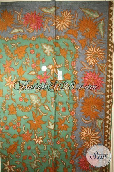 Kain Batik Jawa Buatan Solo Motif Klasik Warna Modern, Batik Tulis Tangan mewah Harga Mahal Untuk Baju Pria Dan Wanita Pejabat