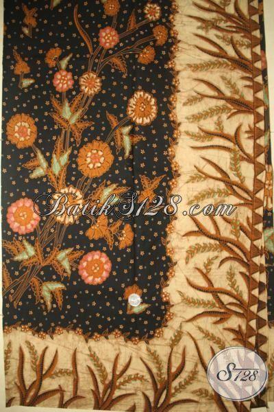 Batik Klasik Motif Bunga Mewah, Batik Premium Tulis Tangan Asli Bahan Baju Blus Dan Kemeja, Batik Solo Halus  Motif Modern Harga Mahal