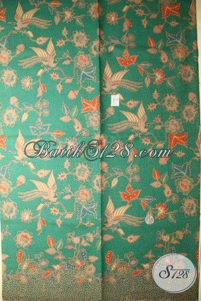 Toko Baju Batik Online Harga Terjangkau, Batik Solo Modern Warna Hijau, Batik Bahan Blus Berkelas Premium