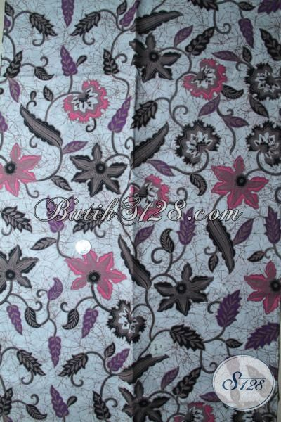 Baju Batik Printing Halus Motif Bunga Khas Perempuan Masa Kini, Kain Batik Bahan Blus Dan Dress Tampil Stylist