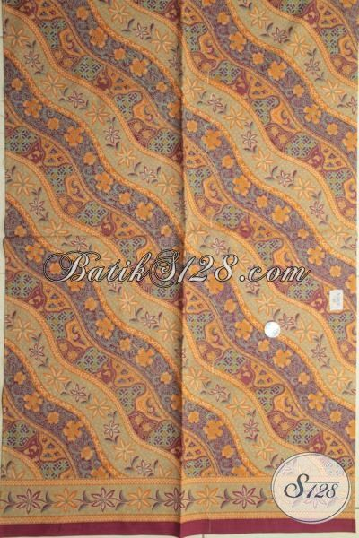 Kain Batik Motif Unik Kwalitas Halus Proses Print Lasem, Batik Kain Klasik Bahan Baju Tampil Lebih Elegan [K1829PL-240x105cm]