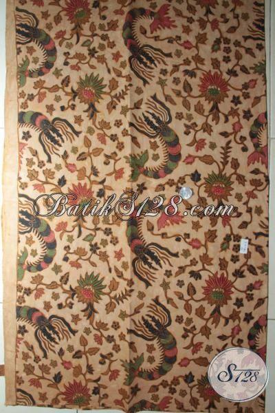 Jual Batik Klasik Bahan Pakaian Mewah, Batik Kombinasi Tulis Produk Solo, Batik Jawa Untuk Baju Kerja Tampil Modis [K1837BT-240x110cm]