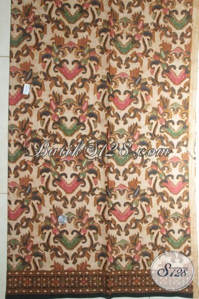 Jual Batik Solo Klasik, Batik Halus Kombinasi Tulis, Kain Batik Bahan Kemeja Dan Dress Tampil Modis Dan Bergaya [K1839BT-240x110cm]
