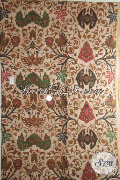Jual Batik Klasik Motif Modern, Batik Solo Bahan Pakaian Halus Berkelas, Kain Batik Kombinasi Tulis Pas Buat Dress Dan Hem