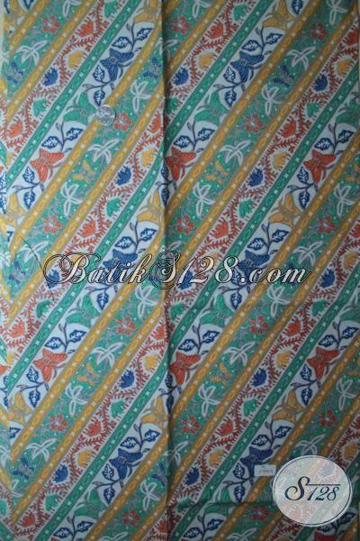 Jual Online Kain Batik Bagus Dan Adem Cocok Untuk Pakaian Seragam Kantor, Batik Print Solo Kwalitas Terjamin Baik Dengan Harga Murah Meriah [K1844P-200 x 105cm]