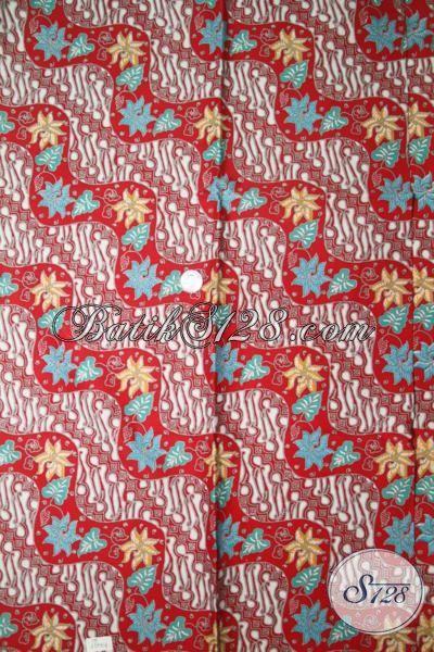 Batik Kain Warna Merah Dengan Desain Motif Yang Keren Dan ...