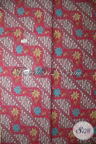 Pedagang Batik Solo Online, Jual Aneka Batik Print Solo Halus Motif Klasik, Batik Merah Bahan Baju Atasan Dan Rok Batik