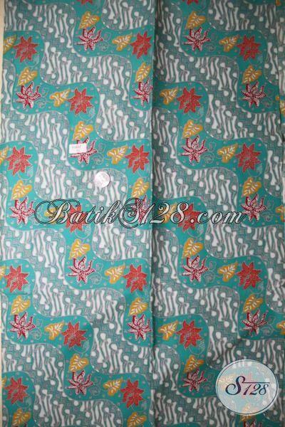 Sedia Kain Batik Hijau Bahan Atasan Batik, Batik Print Halus Motif Keren Dan Klasik, Batik Bahan Pakaian Kerja