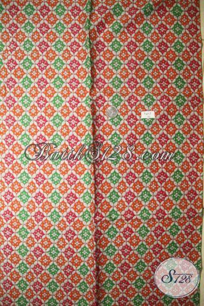 Toko Online Kain Batik Lengkap Dan Murah, Jual Batik Kain Bahan Seragam Kerja Proses Printing Kwalitas Halus Motif Terbaru Yang Fashionable [K1851P-200 x 105cm]
