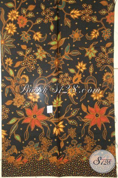 Batik Klasik Halus Sempurna Untuk Baju Kerja Dan Acara Formal, Batik Kombinasi Tulis Dasar Hitam Motif Berkelas Harga 100 Ribuan